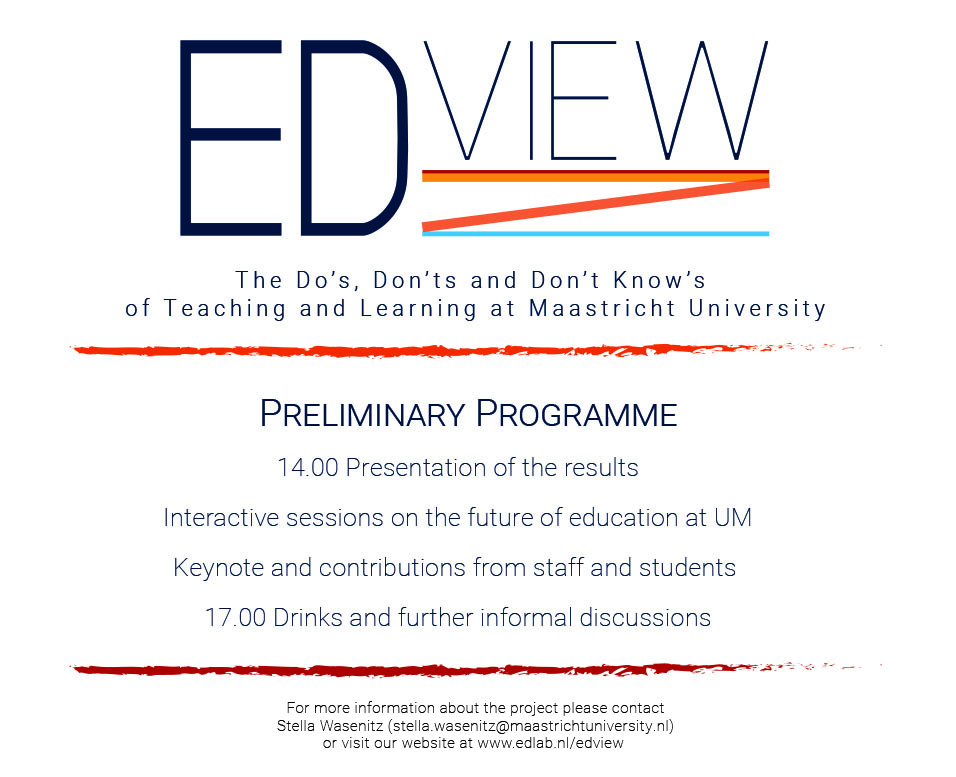 EDview Save The Date Preliminary Programme